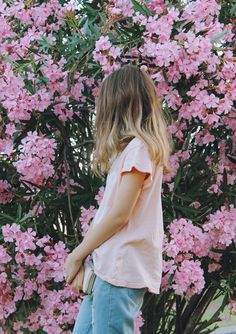 Pink blossoms and ombre.