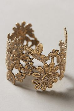 Gardenlace Cuff #anthropologie