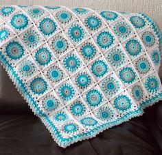 Renate's haken en zo: Babydeken, #haken, gratis patroon (Engels), tutorial, granny square, #crochet, free pattern, baby blanket