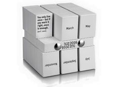 The Cube Calendar by Philip Stroomberg