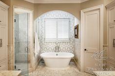 Slipper tub, shower, toilet room layout