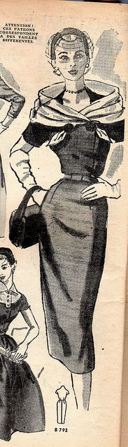 The 1950s-1952 Bonnes soirées-Autumn fashion wouldn't it be nice if this were the standard again?