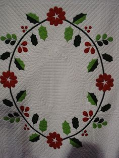 Quilts by Rosemary: Christmas Poinsettia Quilt