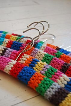 children's crochet clothing hangers