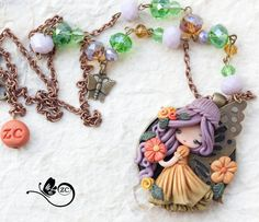 collana fata  / fimo / doll fimo / zingara di ZingaraCreativa