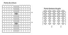 Material: - 4 novelos de Barroco Natural cor código 20, - Agulha para crochê Círculo nº 4mm. Tamanho – 38/40         Ponto utilizado Correntinha (corr.). Ponto baixíssimo (p.bxmo.): Introduza a ag., laç., puxe o p. e passe diretamente no p. da