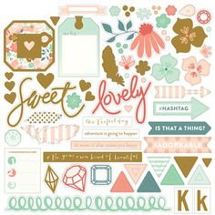 Cool Chipboard Stickers - On Trend - My Minds Eye