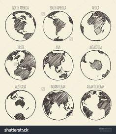 stock-vector-sketch-of-globe-south-america-north-america-africa-europe-asia-antarctica-australia-indian-335447036.jpg (1386×1600)