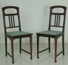 Sitzgarnitur Jugendstil Restauriert Esszimmer Tisch Sessel Stühle Antik 6