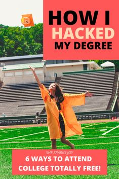 Want to know how to get a degree totally free? These are six ways that will have you crossing that stage in no time! College Student Discounts, Girl College Dorms, College Life, College Students, Education Degree, Education College, Physical Education, Higher Education, College Dorm Essentials
