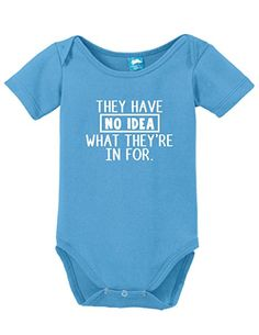 They Have No Idea Funny Bodysuit Baby Romper: Amazon.ca: Clothing & Accessories