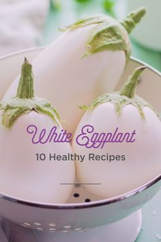 Eggplants are usually know for the distinctive bright, purple color. White eggplants are delicious and provide a unique experience for any dining experience! Try them pan-fried with capers, in a South Indian style curry, or roasted with an almond butter coconut sauce. Try any of these 10 healthy, and delicious, white eggplant recipes!