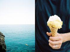 Italy, Liguria by Leila Peterson sea / ice-cream at simplebeyond.com