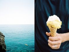 Italy, Liguria by Leila Peterson sea / ice-cream at simplebeyond.com