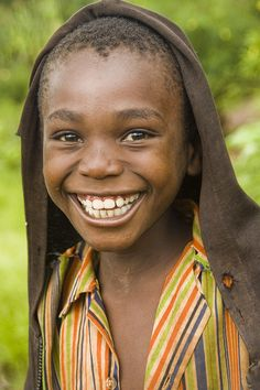 Smiling boy from Malawi