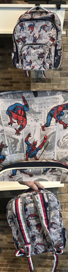 Backpacks and Bags 57882: New Pottery Barn Kids Allover Spiderman Comic Large Backpack Mono Removed -> BUY IT NOW ONLY: $34.99 on eBay!