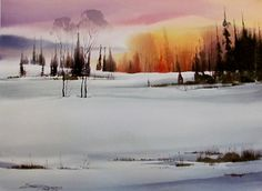 A Warm Winter Day by sterling edwards Watercolor ~ 22 x 30 #watercolor jd