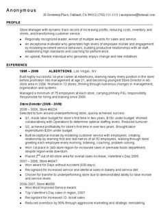 Resume For Retail Jobs Retail Store Manager Resume Example  Httpwww.resumecareer .