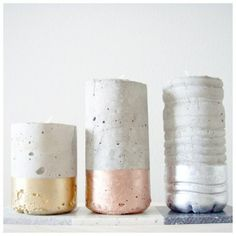 concrete candle holder by monster circus ( there is an English translation button at the bottom of the page)