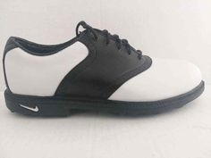 aa7b612b306ca Nike Golf Air 010406y3 Y3 White Black Leather Golf Shoes size 5Y  NikeGolf   GolfShoes