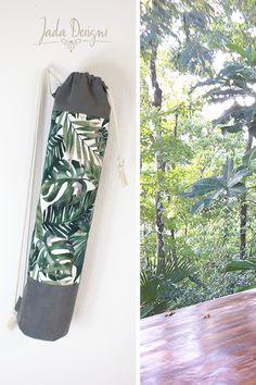 """Yogatasche """"green jungle"""" / Yogamattentasche / Sporttasche / grün, Dschungelblätter / vegan // Yoga Mat Bag, ultrasuede von byJadaDesigns auf Etsy"""