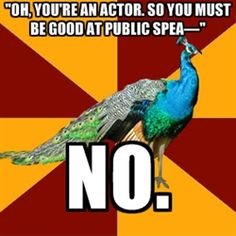 Thespian Peacock - Most popular images all time - page 3 Theatre Jokes, Drama Theatre, Theatre Problems, Theatre Nerds, Music Theater, Broadway Theatre, Theater Quotes, Musicals Broadway, Neil Patrick