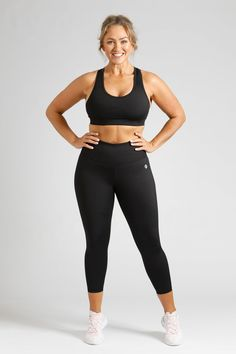 Essential Length Tight in Black — Active Truth – Active Truth™ Sleek Look, Black 7, Fitness Fashion, Perfect Fit, Active Wear, Tights, Essentials, The Incredibles, Workout