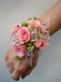 Determining Who Wears Flowers At Wedding For The Best Planning Hand Flowers, Prom Flowers, Wedding Flowers, Wrist Corsage Wedding, Prom Corsage And Boutonniere, Bracelet Corsage, Bride Bouquets, Bridesmaid Bouquet, Homecoming Corsage