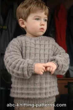 Little Boy's Cuff-to-Cuff Sweater free pattern