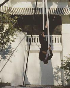 I made something! #aerial #silks #aerialsilks #aerialhammock #hammock #aerialsling #aerialdance #aerialarts #circusarts #circusinspiration #dance #spinning #usaerial #aerialnation