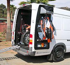 DOOR STORAGE AND HANGER Sportsmobile Custom Camper Vans - Bikes/Toy Haulers - Brian Lopes 55