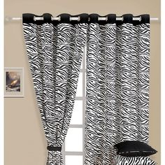 Zebra Print Curtains- Unveil the most charismatic and promisingly charming curtain and add the tint of reactivated glamour. Zebra Print, Stripe Print, Cushion Covers Online, White Zebra, Black White, Printed Curtains, Colourful Cushions, Vogue Covers, Bed Sheet Sets