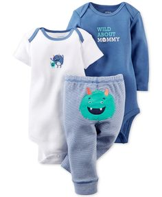 Carter's Baby Boys' 3-Piece Monster Set