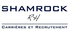 Le logo du cabinet de recrutement Shamrock RH (créé par Deswarte and Partners)