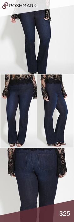 High waist tall dark denim bootcut flare jeans These high waisted jeans are figure flattering with a modern twist of a 70's favorite bell bottom jeans. These jeans have the right amount of flare without being too dramatic. Marked size 12 is true to size and fits a juniors 11/12 as well. Brand new from online retailer. 🚫Firm price/ no offers 🚫 Forever 21 Jeans Boot Cut