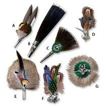 Hunting hat pin: Classic European brooches and lapel pins crafted in Germany add distinctive and recognizable country and hunting themes to your hunting hat or lapel. Feather Hat, Feather Jewelry, Orvis Hats, Hunting Hat, Hunting Themes, Custom Lapel Pins, Lapel Flower, Feather Crafts, Hat Pins