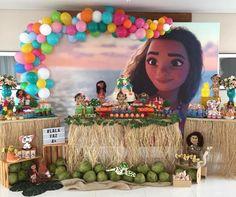 Moana Theme Birthday, Baby Birthday, Birthday Parties, Birthday Cake, Diy Party Themes, Festa Moana Baby, Rose, 1, Rustic Anniversary Party