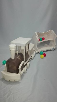 Vlak s vagónom- presúvadlo / LadislavKurnota - SAShE. Wooden Toys, Wooden Toy Plans, Wood Toys, Woodworking Toys
