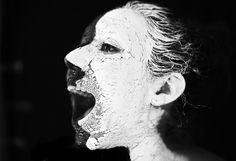Face Painting > Double face, craquelures  N&B LisaMilhavet