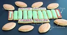 Sugar Cookie Football Stadium perfect for game watching parties!