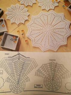 Flower crochet doilies, Crochet placemats, Cotton beige doilies, Thanksgiving gift idea - Her Crochet Crochet Doily Diagram, Crochet Doily Patterns, Crochet Mandala, Crochet Chart, Crochet Doilies, Crochet Round, Crochet Home, Crochet Placemats, Lace Doilies