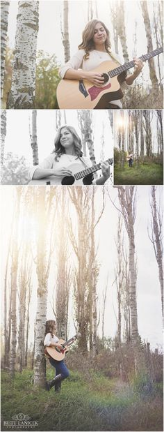 Natural Light Senior Portraits | Custom Senior Portraits | Senior Pictures with Guitar | by Britt Lanicek Photography in NW Ohio http://www.brittlanicekphotography.com