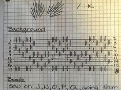 pattern darning heart pattern