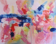 Original oil abstract Indigo bunting on by KerrySteelefineart, $490.00