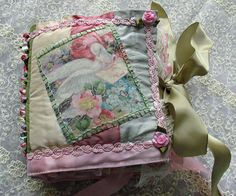 Handmade Fabric Birthday Book by teacup mosaics, via Flickr
