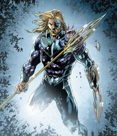 """therunningdude: """"Jason Momoa's Aquaman look and two of Aquaman's comic book looks. Pretty spot-on. """" Jason Momoa's Aquaman is based on Peter David's Aquaman from the (which was also the basis for. Arte Dc Comics, Aquaman Dc Comics, Heros Comics, Dc Comics Characters, Dc Heroes, Comic Book Heroes, Comic Books Art, Comic Art, Book Art"""