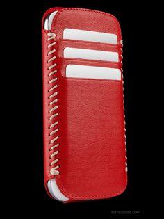 Sena Cases - Designer Leather Cases : Galaxy S 3 Leather Cases Lusio Leather Cigarette Case, Leather Phone Case, Leather Art, Leather Design, Leather Crafts, Galaxy Phone Cases, Diy Phone Case, Leather Accessories, Camera Accessories