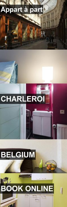 Hotel Appart à part in Charleroi, Belgium. For more information, photos, reviews and best prices please follow the link. #Belgium #Charleroi #travel #vacation #hotel