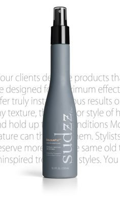 SUDZZfx ColourFix³™ Leave-In Conditioner   ColourFix³™ Leave-In Conditioner is an ultra-light formula rich in FXulites® that helps restore hair and defends against daily environmental stresses. Eliminates tangles, adds body as it smoothes and soothes hair. Surround hair with all-day protection without adding weight. Leave in or rinse out. Low pH of 3.7 - 4.2 closes cuticle.