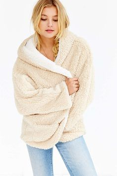 Urban Outfitters Ecote Fuzzy Reversible Jacket